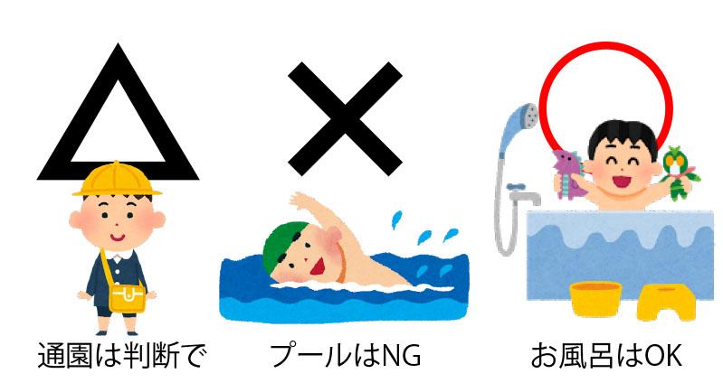 学校プールお風呂