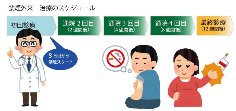 禁煙外来の治療スケジュール