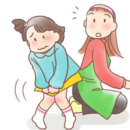 女の子と尿路感染症